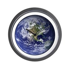 Western Earth from Space Wall Clock