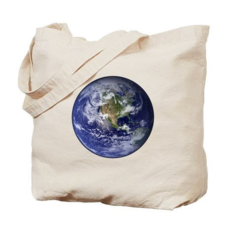 Western Earth from Space Tote Bag