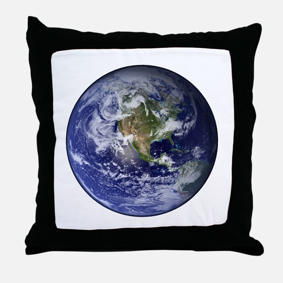 Western Earth from Space Throw Pillow
