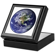 Western Earth from Space Keepsake Box