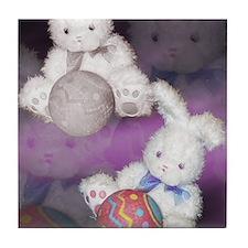 """Ostara """"Easter"""" Bunny w/ Ball Tile Coaster"""