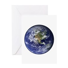 Western Earth from Space Greeting Card
