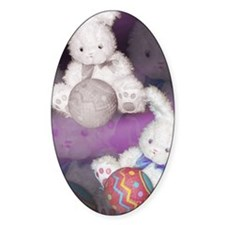 "Ostara ""Easter"" Bunny w/ Ball Oval Decal"