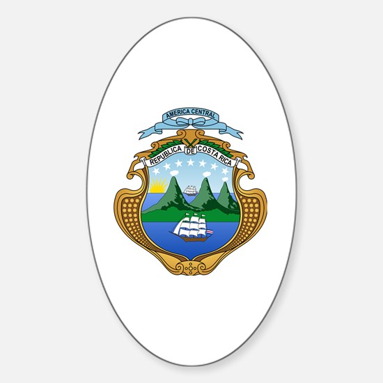 Cute Costa rica coat of arms Sticker (Oval)