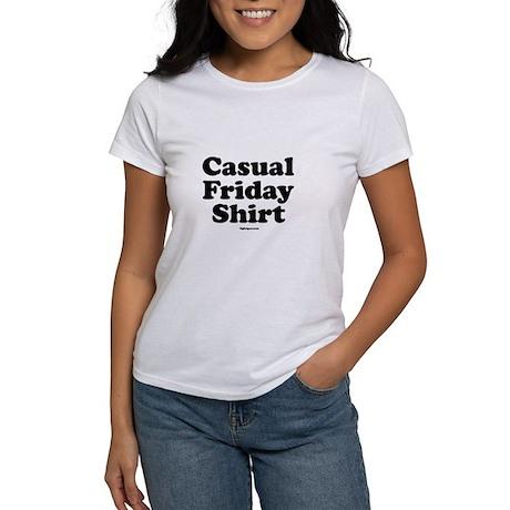 Casual Friday Shir Women 39 S Classic White T Shirt Casual
