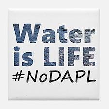 Water is Life - #NoDAPL Tile Coaster