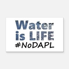 Water is Life - #NoDAPL Rectangle Car Magnet