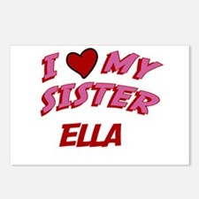 I Love My Sister Ella Postcards (Package of 8)