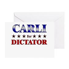 CARLI for dictator Greeting Card