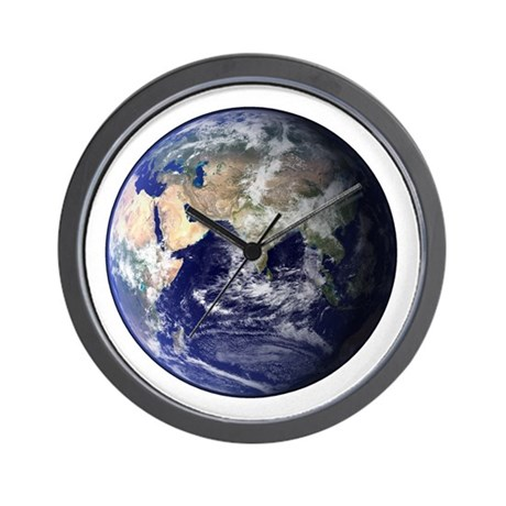 Eastern Earth from Space Wall Clock