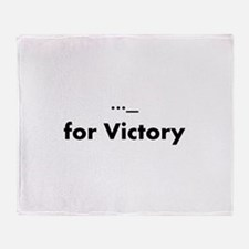 V for Victory Throw Blanket