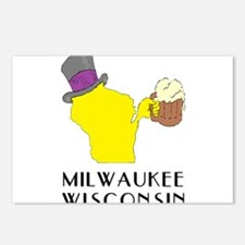 State of Wisconsin Beer - Postcards (Package of 8)