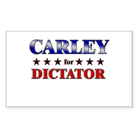 CARLEY for dictator Rectangle Sticker