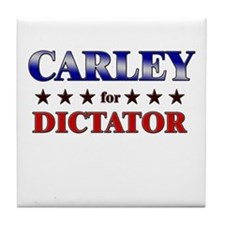 CARLEY for dictator Tile Coaster