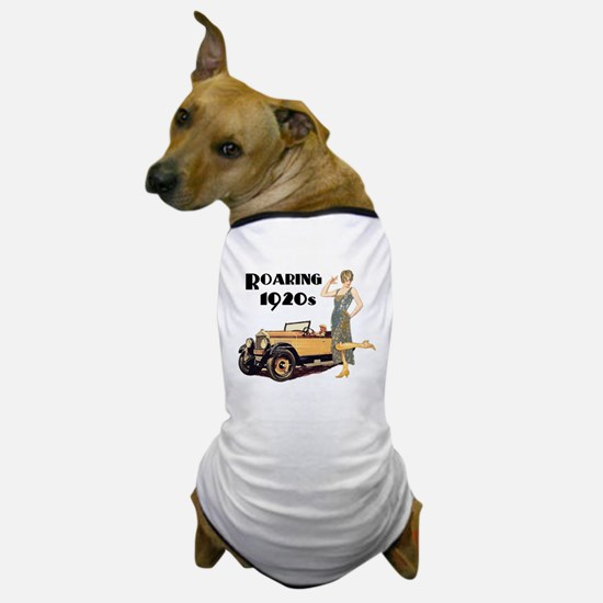 Roaring 20s Flapper and Auto Design Dog T-Shirt