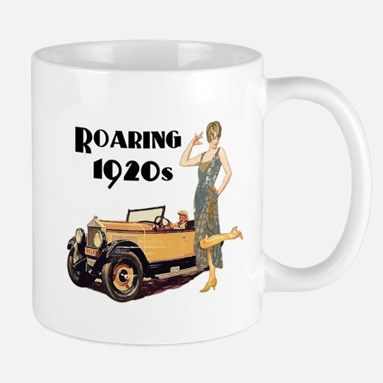 Roaring 20s Flapper and Auto Design Mugs