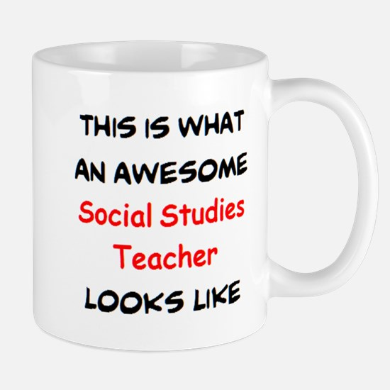 awesome social studies teacher Mug