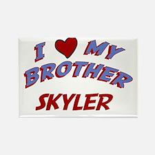 I Love My Brother Skyler Rectangle Magnet