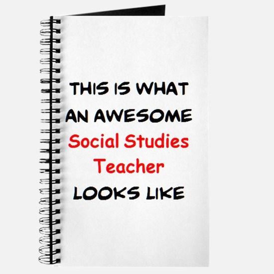 awesome social studies teacher Journal