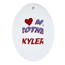 I Love My Brother Skyler Oval Ornament