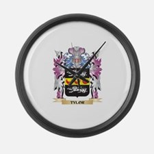 Tylor Coat of Arms - Family Crest Large Wall Clock