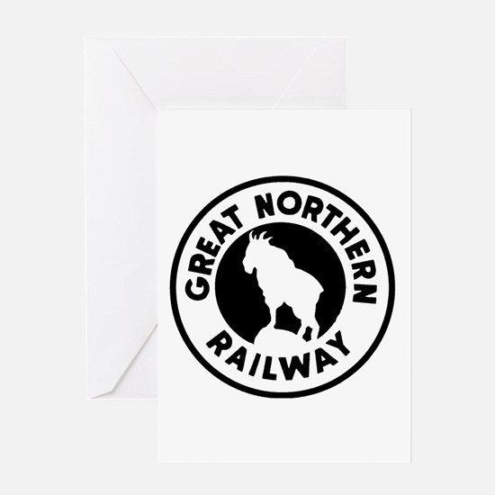 Great Northern Railway logo Greeting Cards