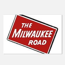 Milwaukee Road logo- slan Postcards (Package of 8)