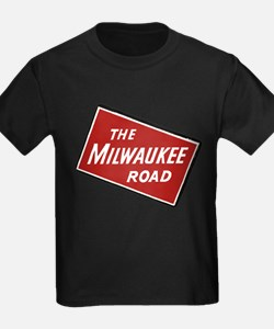 Milwaukee Road logo- slanted T-Shirt