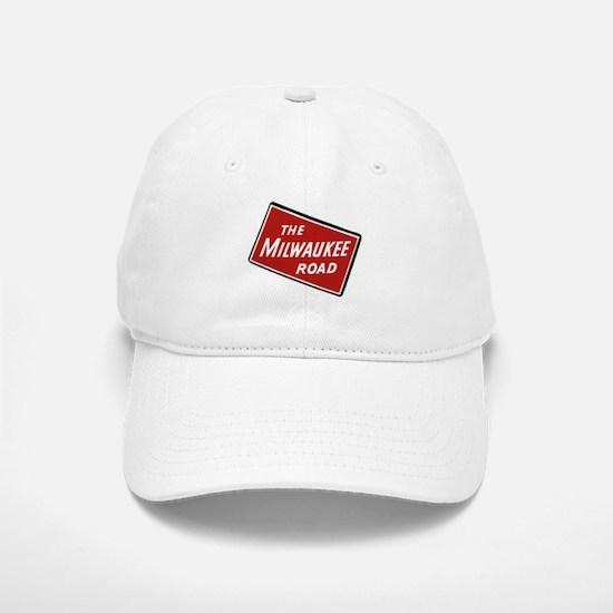 Milwaukee Road logo- slanted Baseball Baseball Cap