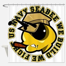 Angry SeaBee Shower Curtain