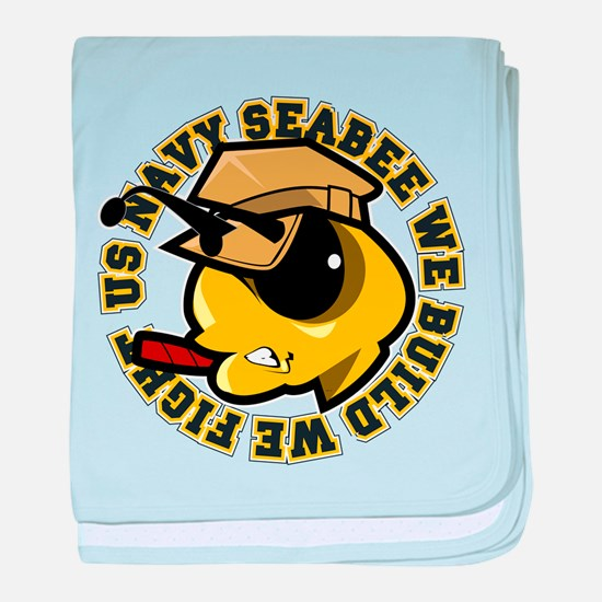Angry SeaBee baby blanket