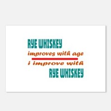 I improve with Rye Whiske Postcards (Package of 8)