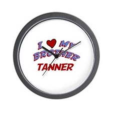 I Love My Brother Tanner Wall Clock