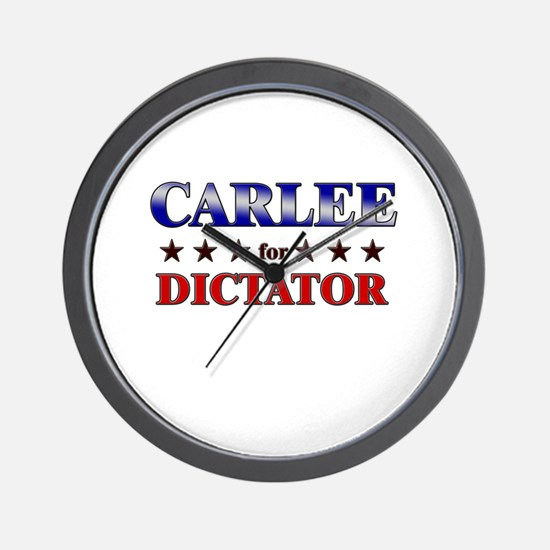 CARLEE for dictator Wall Clock