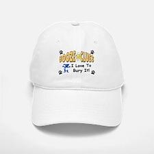 """Booze Clues: I Love To Bury It!"" Baseball Baseball Cap"