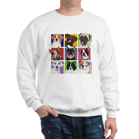 Multi Breed Squares Sweatshirt