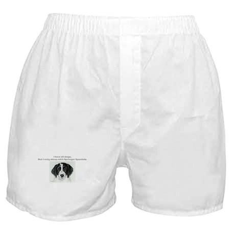 Sleeps with Springers Boxer Shorts