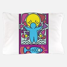 Jesus walking on water Keith Haring ve Pillow Case