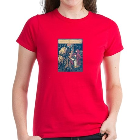 Crane's Red Riding Hood Women's Dark T-Shirt