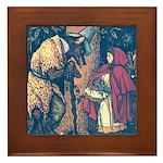Crane's Red Riding Hood Framed Tile
