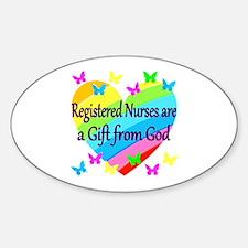 RN NURSE PRAYER Sticker (Oval)