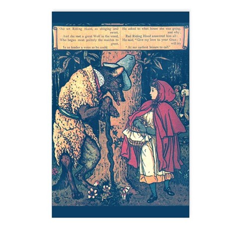 Crane's Red Riding Hood Postcards (Package of 8)