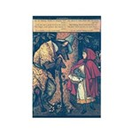 Crane's Red Riding Hood Rectangle Magnet (10 pack)