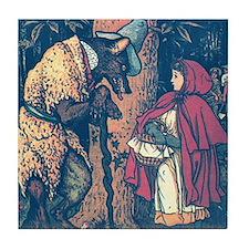 Crane's Red Riding Hood Tile Coaster