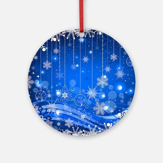 Decorative Christmas Ornament Snowf Round Ornament