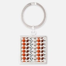 Sports Balls Square Keychain