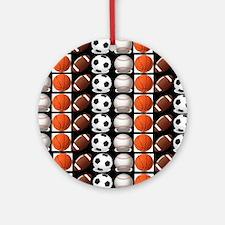 Sports Balls Round Ornament