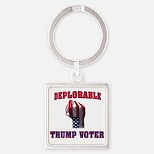 DEPLORABLE TRUMP VOTER Keychains