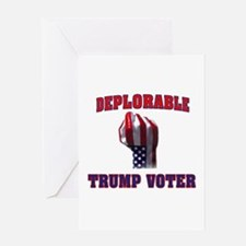 DEPLORABLE TRUMP VOTER Greeting Cards