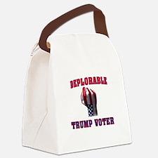 DEPLORABLE TRUMP VOTER Canvas Lunch Bag